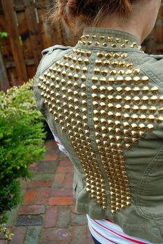 DiY studded military jacket