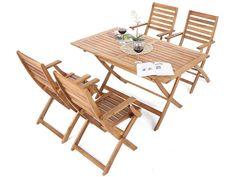 Zestaw drewnianych mebli ogrodowych PADWA to propozycja dla osób ceniących sobie meble wykonane z naturalnych materiałów. Te meble wykonane zostały bowiem z drewna akacji, które jest drewnem twardym, wytrzymałym i odpornym na warunki atmosferyczne. Outdoor Chairs, Outdoor Furniture, Outdoor Decor, Teak, Table, Home Decor, Living Room, Decoration Home, Room Decor