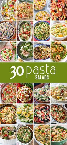 30 PASTA SALADS for every bbq and get together! Find the perfect easy recipe for every occasion! Full of flavor and SO SIMPLE! Nothing better than the best pasta salad recipe!: