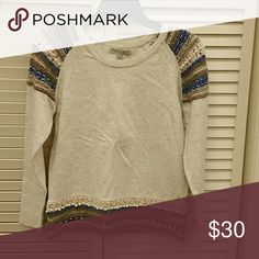 Pearl sweater Oatmeal sweater with pearls young threads Tops Blouses