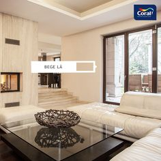 Give a touch of colour to your home with Sico! Modern Decor, Modern Design, 3d Design, Deco Paint, Beige Living Rooms, House Windows, Home Staging, Custom Homes, Luxury Homes