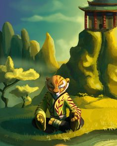 Enjoying some early morning calm. before Po wakes up --- hrs in Master Tigress (c) Dreamworks Animation. Tigress Kung Fu Panda, Po Kung Fu Panda, Po And Tigress, Dreamworks Movies, Dreamworks Animation, Disney And Dreamworks, Master Oogway, Dragon Warrior, Cartoon Shows