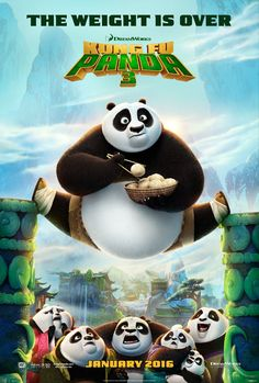 kung fu panda 3 poster. I loved the 2 before this one and I'm afraid a won't like this one. I don't know why.