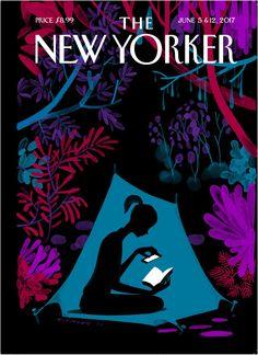 "The New Yorker - Monday, June 5, 2017 - Issue # 4690 - Vol. 93 - N° 16 - Cover ""Enchanted Forest"" by Christoph Niemann Sehenswerte Doku über ihn bei Netflix (""Abstrakt, Design als Kunst)"