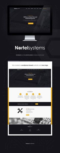 NortelSystems is providing telecoms solutions to companies around the world. We created wordpress based website and new logo.