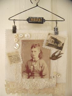 Vintage Fabric Collage~