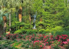 """Atalaya and Brookgreen Gardens  A view of the gardens featuring, """"Spirit of American Youth,"""" by sculptor Donald De Lue.    Pawleys Island, South Carolina  Photographed by Anne Malarich"""