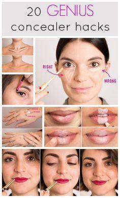 20 Genius Concealer Hacks that'll change your whole makeup routine. | Cosmopolitan UK