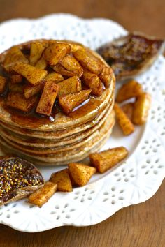 Apple Oat Greek Yogurt Pancakes