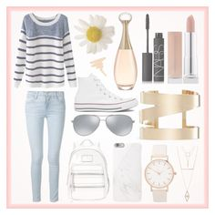 Casual + Cute by beautifulchaosxx on Polyvore featuring polyvore, fashion, style, Chicnova Fashion, Frame Denim, Converse, Marc by Marc Jacobs, Isabel Marant, Charlotte Russe, Native Union, Ray-Ban and NARS Cosmetics