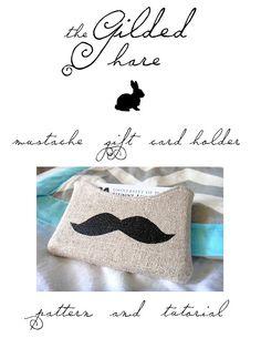 Moustache gift card holder
