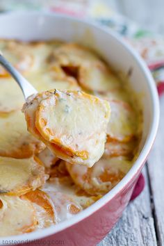 Scalloped Sweet Potatoes - Taste and Tell