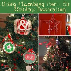 Adorable Ornaments Made From Plumbing Parts | AllFreeChristmasCrafts.com