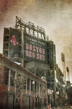 Fenway Park Vintage Print - Vintage Red Sox Wall Art - Boston Sports Print. ***AVAILABLE AS ART PRINT OR CANVAS GALLERY WRAP*** Vintage Fenway Park Wall Print showing Lansdowne Street and the big green scoreboard.