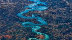 MasyaAllah, Sungai Biru Menyerupai Naga Bikin Warga Tiongkok Terkagum-kagum