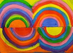 Delaunay& inspiring bridges with S GS. Sonia Delaunay, Painting Activities, Ecole Art, Paper Drawing, Art Graphique, Art Plastique, Decoupage, Drawings, Artwork