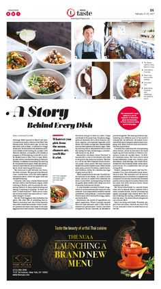 A Story Behind Every Dish|Epoch Taste #Food #Rider #newspaper #editorialdesign