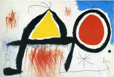 Joan Miró - Character in front of the sun