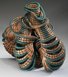 """Over & Out""  --  Basketry  --  Peggy Wiedemann  --  Click through for even more images from this incredibly talented artist."