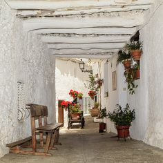 Beautiful white washed village called Capileria in Granada, Spain Granada Andalucia, Granada Spain, Beautiful Places To Visit, Beautiful World, Great Places, Mountain Dream Homes, Places In Spain, Lakeside Living, Spain And Portugal