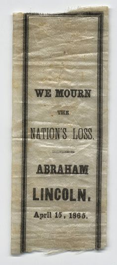 In the Swan's Shadow: Another Lincoln Mourning Ribbon, 1865