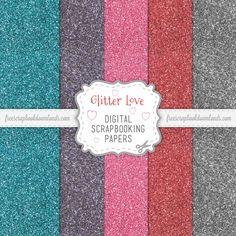 free digital glittered scrapbook paper - Google Search