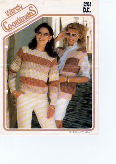 """Vintage Knitting Pattern pdf. Lady's Lacy Sweater and Waistcoat in DK to fit 5 Sizes - 32"""" - 40"""" chest, INSTANT DOWNLOAD by NostalgicStyles on Etsy"""