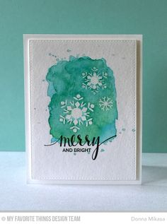 Hand Lettered Holiday, Snowflake Flurry, Blueprints 24 Die-namics - Donna Mikasa #mftstamps
