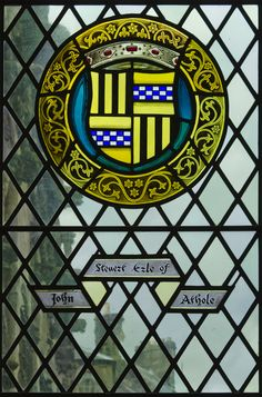 John Stuart, Earl of Athole. Stained Glass Window, Great Hall, Stirling Castle.