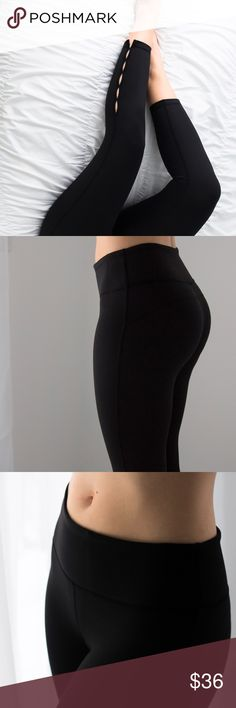 """Peekaboo Workout Capri *LAST 1! ONLY one L LEFT / not restocking◽️Workout in style with these sleek and sexy pants! BEST QUALITY.  INCREDIBLY soft material, stretchy + breathable feel. Stretch waistband is flattering on the tummy. Hidden front pocket. Ankle cropped length. Poly/12% spandex. 9"""" rise taken from size M. Brand new. I am modeling M and wear a 26/27 in jeans. The L best fits an M/L. Waist across: S 12"""" --  M 13"""" -- L 14""""  ▫Price is firm, no offers 📷 Photos are my own Pants Track…"""
