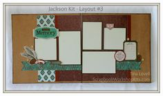 Scrapbooking Kits: Layout #3 for the Jackson 6 Page Scrapbook Kit - $20 #ctmh #scrapbookkits #sketches