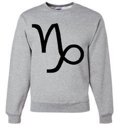 For the Capricorn in your life.  Tons of colors to choose from.  Get yours here: http://www.californiarepublicclothes.com/Capricorn-Astrology-Symbol-Crewneck-Sweatshirt/dp/B00K5AMUXA  I Neeeed this ♑♑♑♑♑