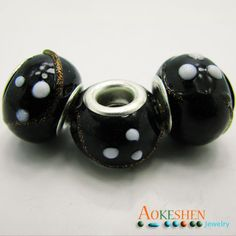 $4.99    Black Lampwork Beads Glass Beads 10pcs Silver Core by EOZYBEADS    https://www.etsy.com/listing/210096450/black-lampwork-beads-glass-beads-10pcs?ref=shop_home_active_21