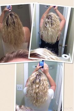 """""""The top left is before MONAT. The top right is after just ONE wash. The bottom is four washes later with REJUVENIQE oil. My hair (I can see now) was very weighed down with product and wasn't even drying properly. The last few days I haven't used anything except MONAT products. I haven't even been using MONAT for a full week and it totally brought life back to my hair! PM me if you are interested in getting rid of product buildup!!"""" 30-90dayMBG rockyourlocks.mymonat.com"""