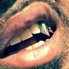 gold double tooth grillz with fangs - Google Search