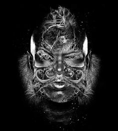 "Illusion: ""Fantasmagorik"" is an ongoing digital art series by Nicolas Obery. Images © Nicolas Obery Link via Behance Network. http://illusion.scene360.com/art/32817/phantasmagoric-people-and-creatures/"
