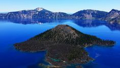 Crater Lake view and the water is more electric blue than a camera can capture.    http://www.tripwellness.com/driving-four-western-us-national-parks/