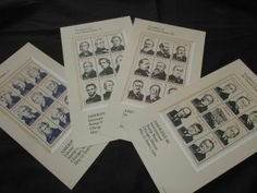 Stamps Mint Ameriplex 1986 Presidents of the US International Stamp Show Chicago