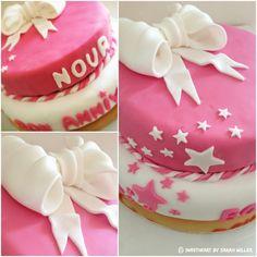 Gâteau d'anniversaire pâte à sucre Nour 1 an - Fondant cake