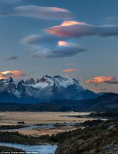 Spectacular: Amateur photographer Dmitry Dubikovskiy spotted the unusual cloud formations while travelling with friends in CHILE