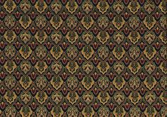 Mill Creek Fabric Black Burgundy Green Gold Print  Cotton Drapery Upholstery  #MillCreek