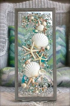 Mermaid Wall board with mirror and pegs