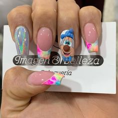 Disney Nails, Elegant Nails, Hair And Nails, Manicure, Nail Art, Beauty, Instagram, Om, Easy Nails