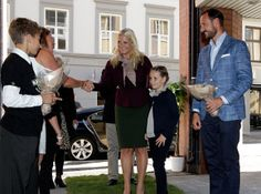 MYROYALS: Crown Prince Haakon , Crown Princess Mette Marit  and Princess Ingrid Alexandra attended  opening of the new Environment House in Oslo. 9/13/13