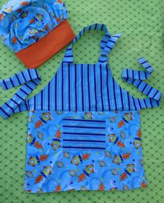 Boy's Apron and Hat Chef Set by DawnyCake on Etsy, $30.00