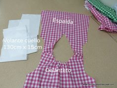 De costuras y otras cosas: BLUSÓN PARA NIÑA EN CUADROS VICHY Kids Dress Patterns, Baby Clothes Patterns, Clothing Patterns, Eve Children, Sewing Alterations, Japanese Sewing, Little Girl Dresses, Sewing For Kids, Diy Clothes