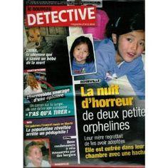Le Nouveau Détective - n°1356 - 10/09/2008 - Roseville : La nuit d'horreur de 2 petites orphelines [magazine mis en vente par Presse-Mémoire]