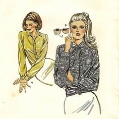 A Long Sleeve, Button Front Shirt / Blouse Pattern with Collar Variations by So Sew Some!