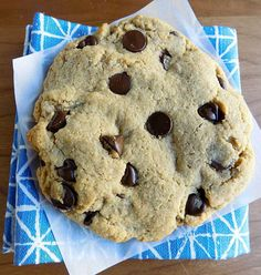 Low Carb Chocolate Chip Cookie Recipe - delicious, gluten-free single-serve chocolate chip cookie recipe! THM S