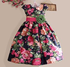 Fashion kids girl black children Ideas for 2020 Girls Blue Dress, Girls Party Dress, Party Wear Dresses, Toddler Girl Dresses, Little Girl Dresses, Girls Dresses, Flower Girl Dresses, Flower Girls, Baby Dresses